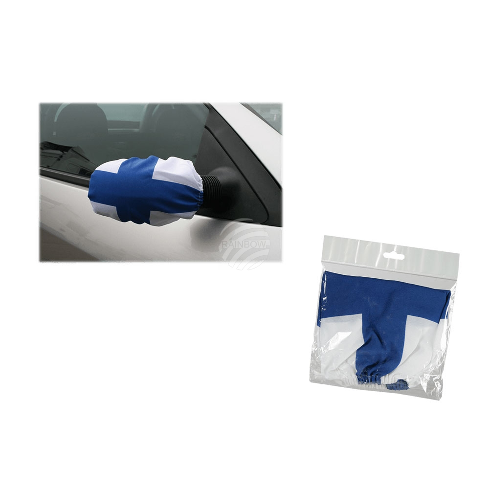Car side mirror<br> flag with rubber<br>string, Finnish F