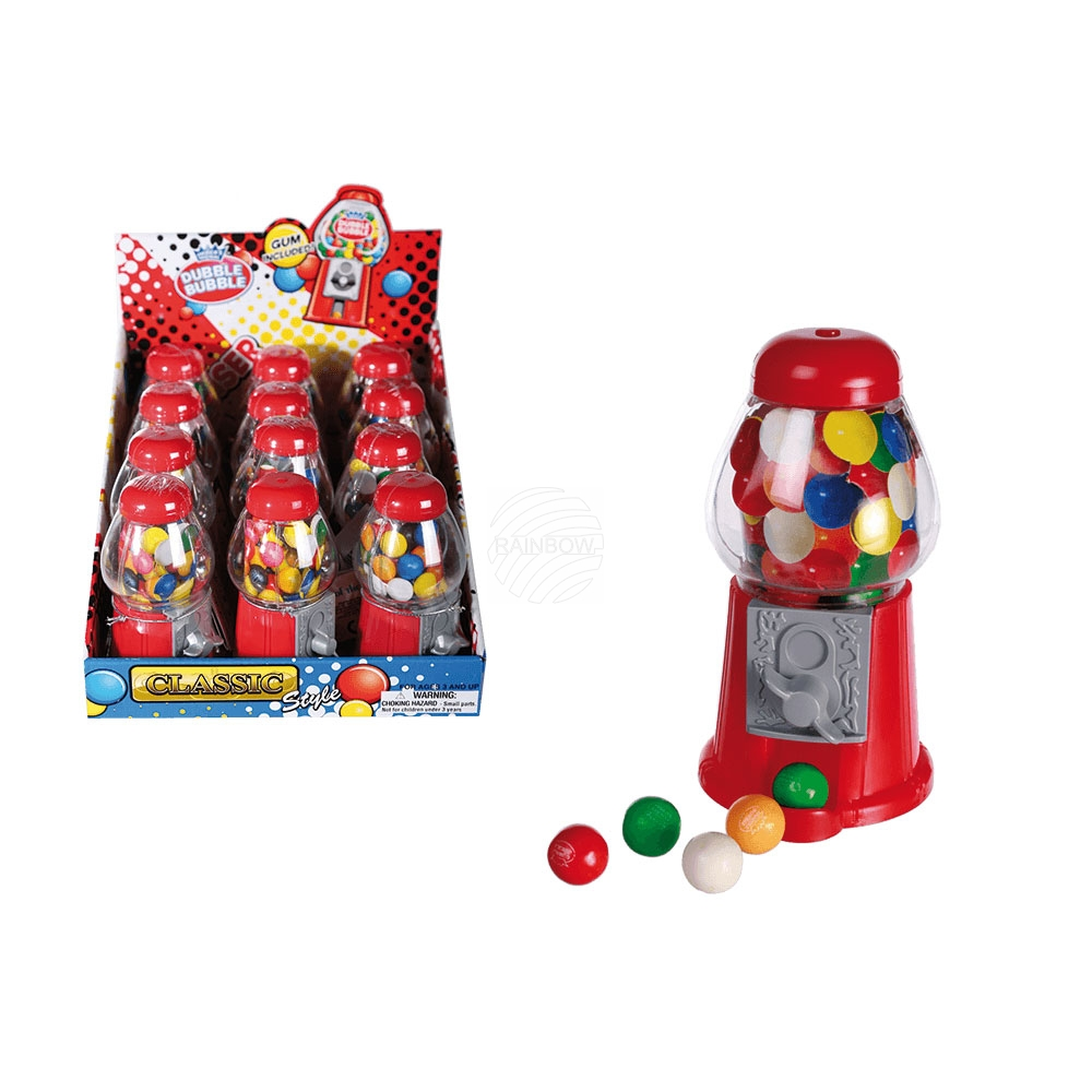 Red Gumball<br> Machine, with ca.<br>25 g chewing gums, c