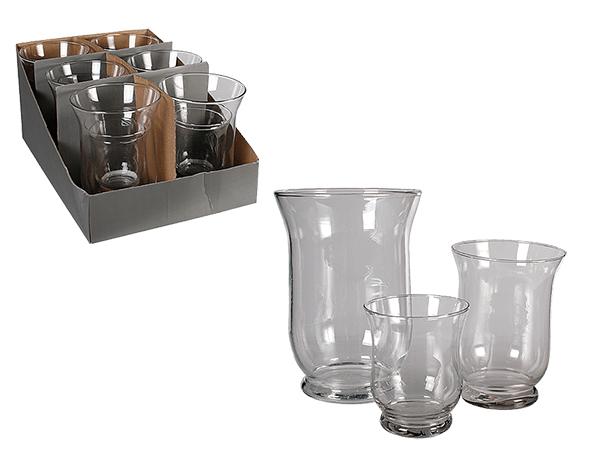 Glas-Windlicht,<br> 3er Set, ca. 20 x<br>14 cm, 15 x 11 c