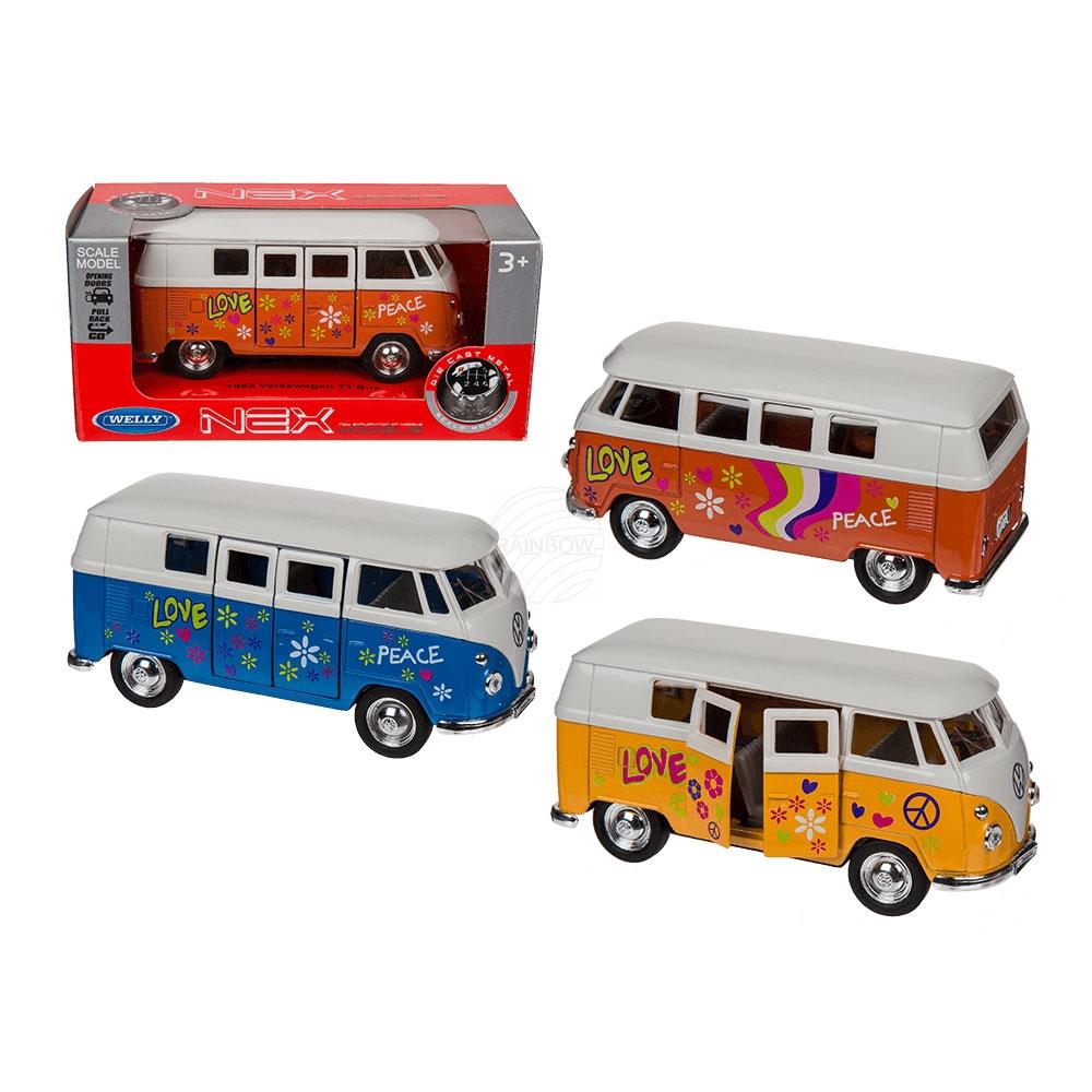 Model auto met<br> wrijving motor, VW<br>T1 Bus 1963 - Fl