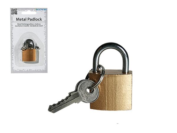 -Metall<br> Vorhängeschloss<br> mit 2 Schlüsseln, ...
