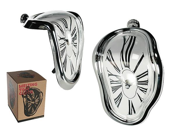 Plastic clock,<br> Melting Time, ca.<br>18 x 13 cm, for 1