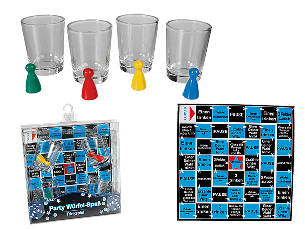 Alkoholfogyasztás<br> kocka játék 4<br>pohár &amp; Event