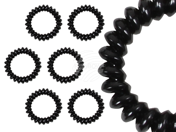 100 Spiral hair<br> rubber sorting<br>black large