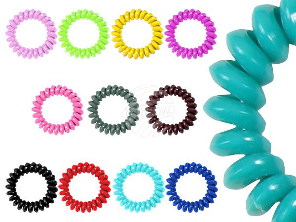 100 Spiral gumy do<br> włosów sortowania,<br>inny kolor