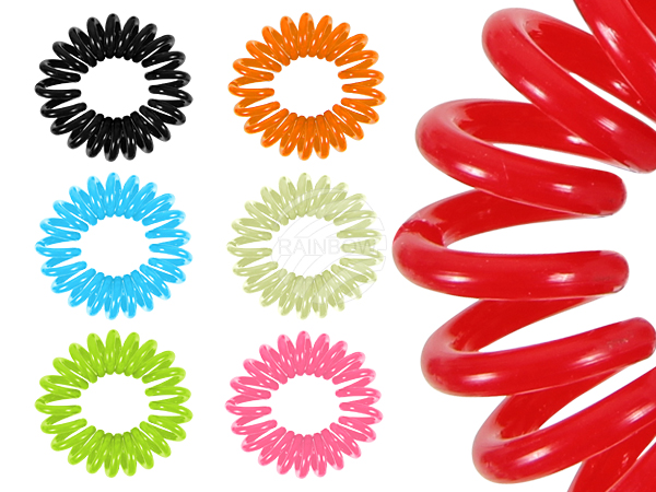 Spiral hair rubber<br> sorting, various<br>colors m