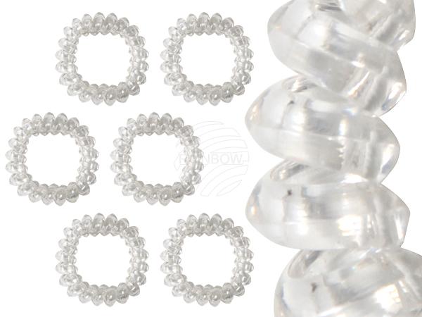 Spiral hair bands,<br>transparent, Ø 4 cm