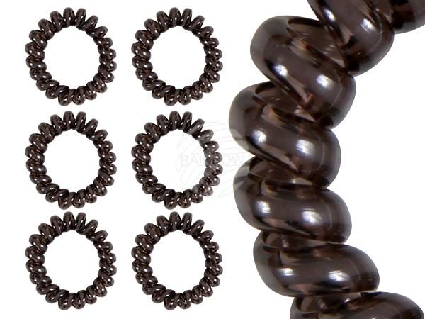 Spirala gumowe<br> czarne włosy<br> transp. białe ...