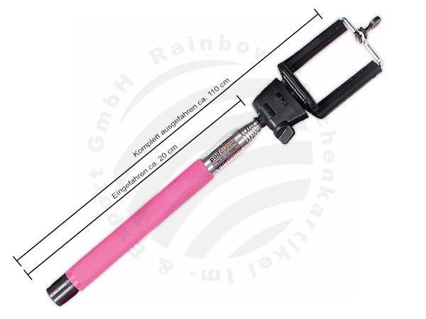 Selfie Stick phone<br> holder Smartphone<br>pink