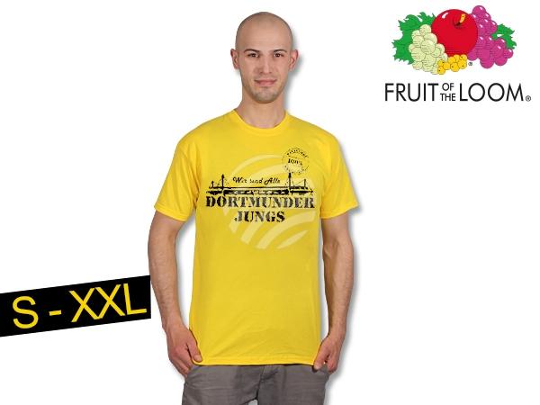 T-Shirt gelb<br> Dortmunder Jungs