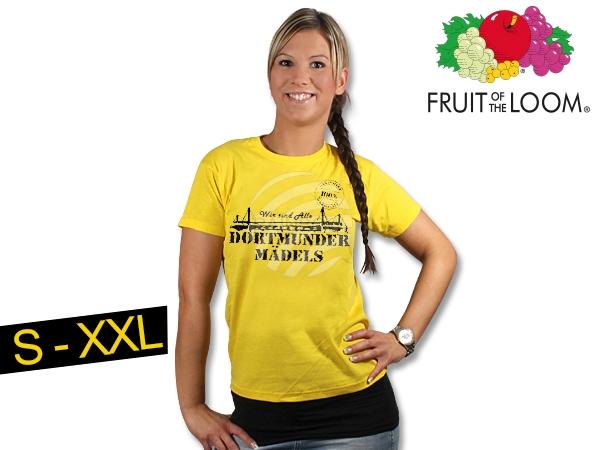 Ladies T-Shirt<br> yellow  Dortmunder<br>girls