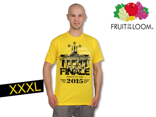 T-Shirt Dortmund<br>  cup final  yellow<br>XXXL