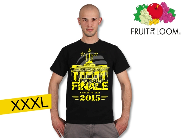 T-Shirt Dortmund<br>  cup final  black<br>XXXL