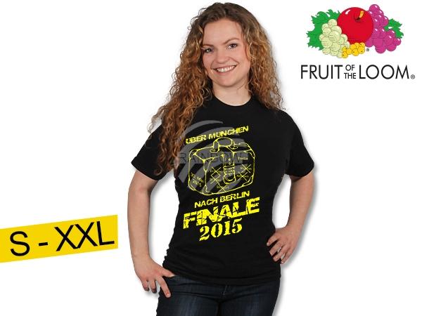 T-Shirt Dortmund<br>fekete  Finale