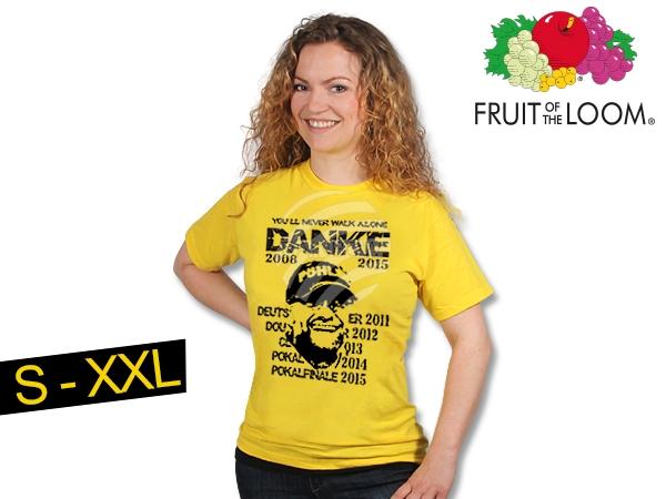 T-Shirt Dortmund<br>gelb  Danke