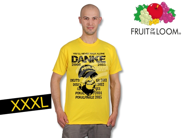 T-Shirt Dortmund<br> Thanks  yellow XXXL