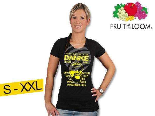 T-Shirt Dortmund<br>fekete  köszönöm
