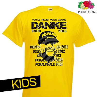 Kids T-Shirt<br> Dortmund sárga<br> Thank You  KIDS
