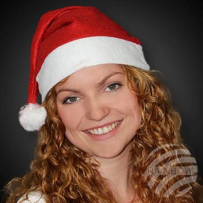 Weihnachtsmütze<br> Nikolausmütze rot<br>mit Bommel